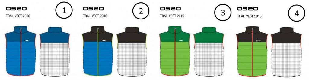 Chaleco con relleno de fibra y espalda de malla, ideal para trail running y esquí de travesía
