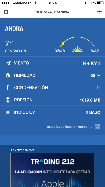 The Weather Channel. App Móviles