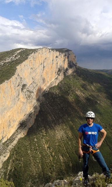 Vista de la pared de Cataluña desde la cima de Aragón
