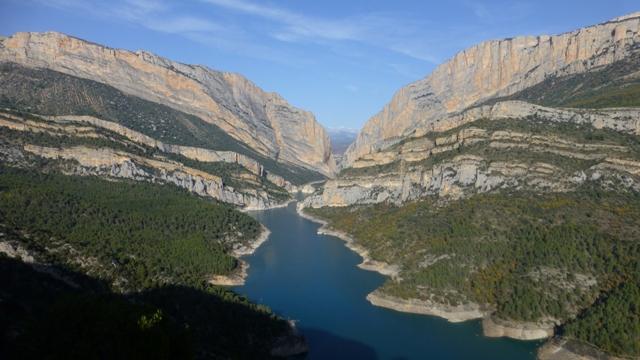 Vista del Congost de Montrebei desde la Hermita de Mont Falcó.