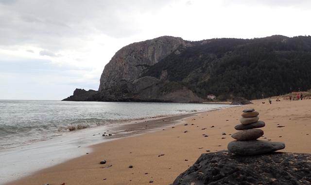 Vistas desde la playa de Laga
