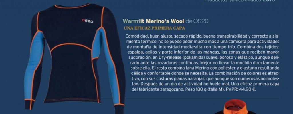 Camiseta de lana merina Warmfit